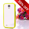 delectable hybrid candy tpu bumper PMMA backboard For samsung galaxy s4 crystal case