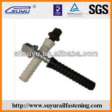 Nylon rail plastic dowel, railway accessories, suyu railway fastener manufacturing