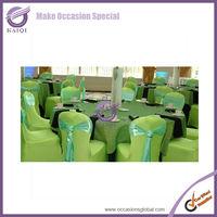 2014 hotsale Green Stretch cheap universal chaircover wholesale wedding