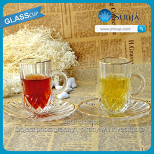 Family tableware dinner glass set cup tea glasses cup set in china