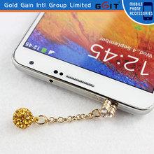 Romantic Gold Plaid Dustproof Plug Mobile Phone Headphone Anti-Dust Plug Ear Cap Dust Plug For 3.5 mm Ear Jack