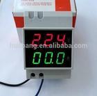 DIN-RAIL Slide Way Digital LED AC Voltmeter Ammeter AC80-150V 0.2-99.9A Voltage Current Meter Dual Display Panel Meter