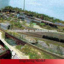 Train modèle de table de sable, Train des chemins de fer modèle de mise en page faire