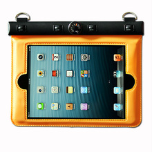 pvc/tpu waterproof pouch for ipad mini with thermometer for ipad mini