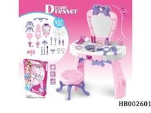 Juguete de color rosa tocador de belleza para la muchacha con la luz y la música y silla y espejo niñas juguetes