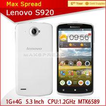 5.3 inch original lenovo mtk6589 1.2ghz 1gb ram 4gb rom 3G wcdma lenovo s920 cell phone