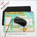 De caucho natural mouse pad/personalizados de goma del ratón esterasdecoches/espuma de caucho natural mouse pad