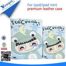 baby girl cartoon stylish leather case for ipad mini