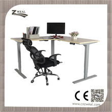 L shape Electric Sit Stand Corner Table