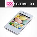 Expédition dorp 3.5 pouces pas cher téléphone intelligent x1 mtk6572 gfive dual core android ghz 1.2 4.2 soutienos dual sim wcdma 3g fm gps g- capteur