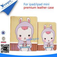 rabbit baby folding leather case for ipad mini 2 3 4