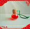 2014 Hot Sale Auto Little Glass Bottle 10ml Hanging Car Air Freshener,Aroma Liquid Hanging Car Perfume Car Deodorizer