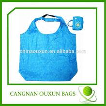 Wholesale folding nylon bag, pouch nylon shopping bags, nylon wholesale tote bags