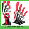 fixed blade ceramic knifes ceramic knifes set with acrylic block