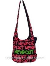New design canvas women handbag,circle style big size high quality tote bag