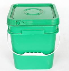 2 1/2gallon square plastic bucket & lids