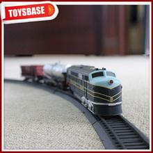 Kids Funny B/O Battery Operated 1:87 Plastic Classic Railway Electric Locomotive model cartoon trackless ho scale tourist train