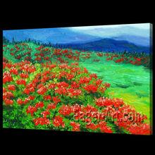 Handpainted Beautiful Flower Scenery Oil Painting