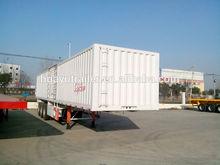 Tri-axle Container Semi Trailer and Box Trailer for sale