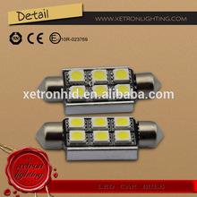 High Quality LED Auto Bulbs 5050 6SMD Festoon 36MM 39MM 42MM DC12V Super Bright