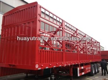 animal transport vehicle :cargo stake semi trailer on sale
