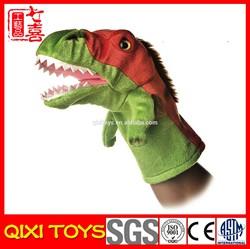 Cheap animals hand puppets plush dinosaur hand puppet
