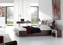 Modern home fruniture leather bed frame OBM9026