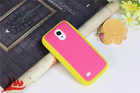Hot selling back cover 2 color Silicone soft gel rubber rugged skin case for samsung galaxy S4 mini i9190