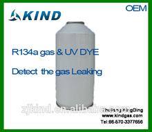Gaz réfrigérant peut 340g r134a 99.9% colorant uv détecter une fuite de gaz