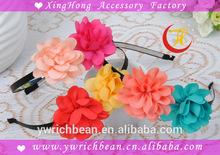 hot sales fashion kids wholesales pink flower plastic headband girl headband wh-1008