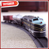 Kids Funny B/O Battery Operated 1:87 Plastic Classic Railway Electric Locomotive model cartoon toy train large toy train