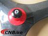 Super light carbon tri-spoke wheel,70mm clincher road bike tri-spoke front wheel /3K glossy finish