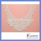 Guipure lace collar neck piece for ladies dress neckline design