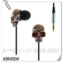Blood eyes horrible skeleton earphones