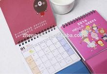 2014 hot sale business desk calendar table calendar