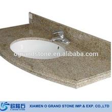 China Yellow Cheap Granite Wash Basin Counter Tops
