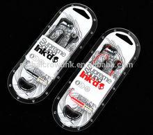 Retail headphone+earphones with mic new box Skull INK'D 2 headphones hi-fi candy earphone for MP3 MP4 IPOD