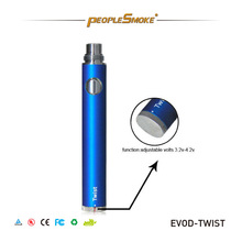 evod twist battery, with 5 click protect system,mt3 evod clearomizer