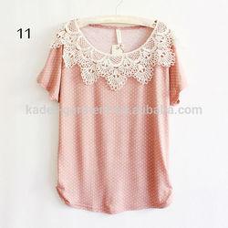 wholesale cheap 100% cotton polka dot t shirts for women