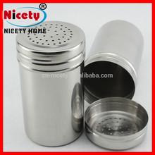 Custom Small Stainless Steel Round Shaped Salt Pepper Shaker