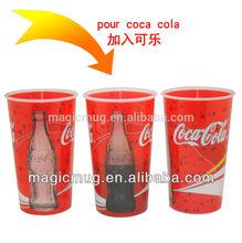 2014 Heat sensitive,temperature sensitive color changing magic cup