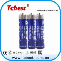 wholesale heavy duty battery 1.5v r03 um-4 aaa carbon dry battery
