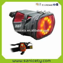2014 new developing LED remote intelligent saddle bag with auto braking