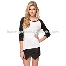 raglan long sleeve cotton simple plain t-shirt for women