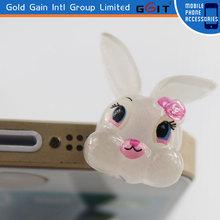 Cute Rabbit Dustproof Earphone Plug For Mobile Phone 3.5 mm Dustproof Jack Plug