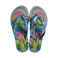 2014 funky verano sandalia flip flops, señoras zapatilla plana