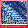 FROZEN Blue Sequin Fabric Garland Ice Blue White Sparkle pattern stripe sequin net embroidery fabric