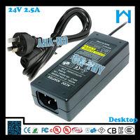 240v ac 24v dc transformer 60w UL/cUL GS SAA PSE, power adapter transformer.Power supply
