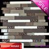 decorative wall tile strip brown glass stone mosaic