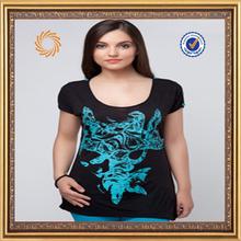 Manufactory High quality comfortable cotton lycra women tshirts